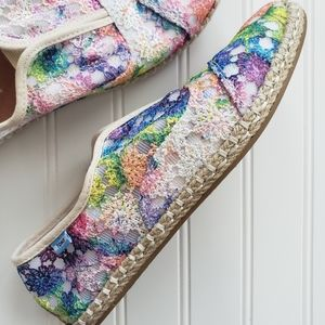 Toms Palmera Rainbow Crochet Espadrilles Sneaker